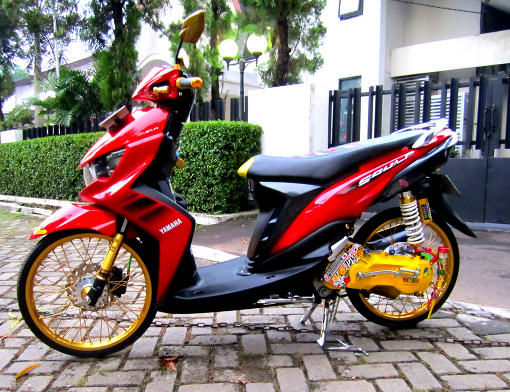 Top modifikasi motor mio soul gt