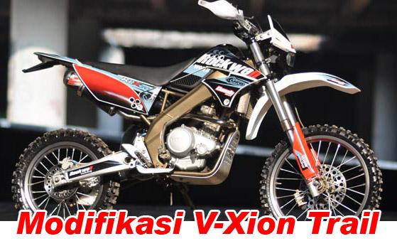 Modifikasi Motor Modifikasi Motor Yamaha Vixion Menjadi Trail